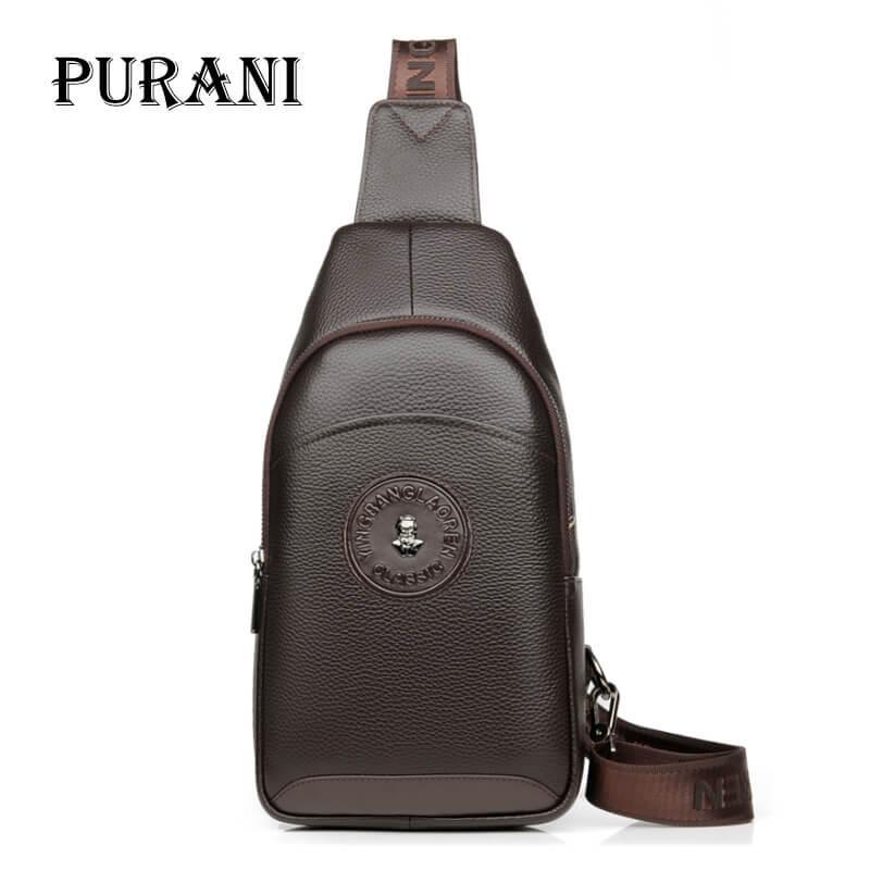 e92f8d93d219 PURANI Male Cowhide Leather Crossbody Bag Men Shoulder Bags High Quality  Casual Chest Pack Genuine Leather Men Messenger Bag NEW Handbags For Sale  Fashion ...