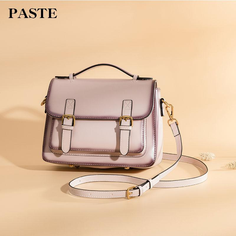 760023381130 Paste Women Handbags Vintage Crossbody Messenger Bag New Leather Shoulder  Bags Square 2018 Brand Lady Solid Small Flap 3051 S Cute Bags Purses For  Women ...
