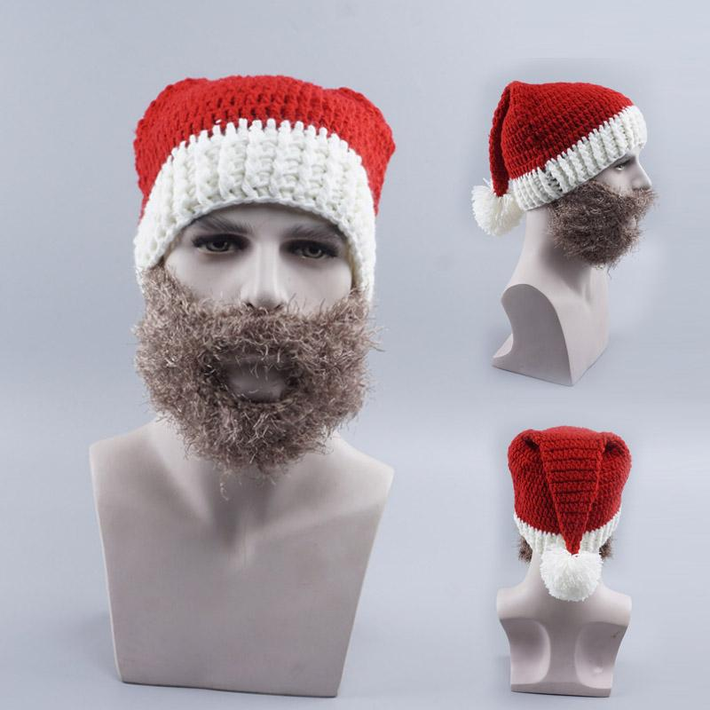 929a0649584 2019 Holiday Christmas Hat Men And Women Knit Hat Winter New Beard Warm  Wool Creative Funny Beanies Cap For Santa From Ranshu