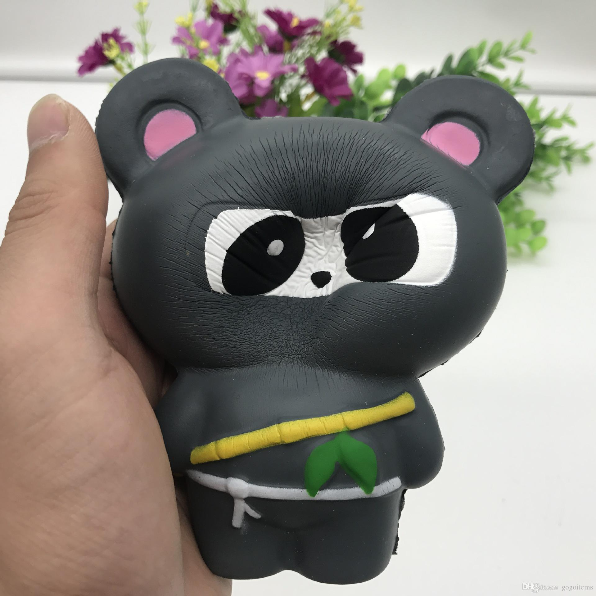 New Animal Jumbo 14CM Kawaii Ninja Squishy Panda/Bear/Fox Bread Soft Slow Rising Fun Kid Toys Sweet Charm Cartoon Cake