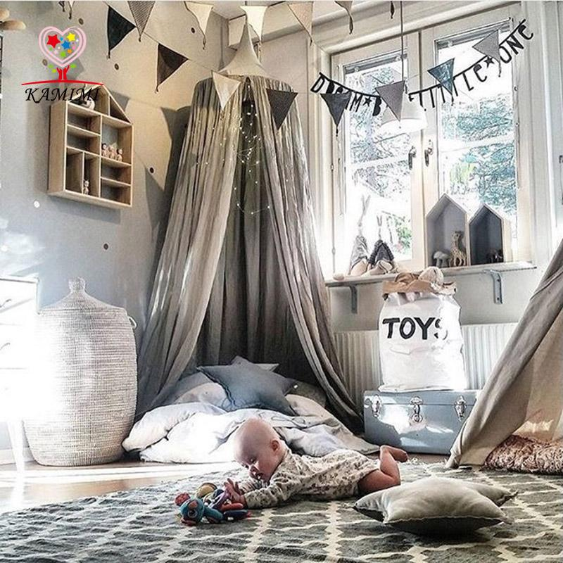 Canopy Bed Tent Kids Crib Neing Children Curtain Children Canopy Tent Hung Dome Mosquito Net Room Decor Metal Baby Crib Contemporary Crib Bedding From ... & Canopy Bed Tent Kids Crib Neing Children Curtain Children Canopy ...