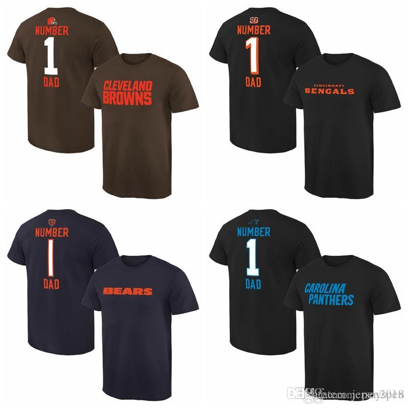Cincinnati Panthers Brown Cleveland Línea Papá Pro Carolina 1 Hombres Número Camiseta Bengals Chicago Bears MpqVGSUzL