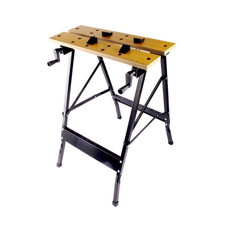 2019 Allsome Folding Work Bench Steel Table Garage Portable Tool