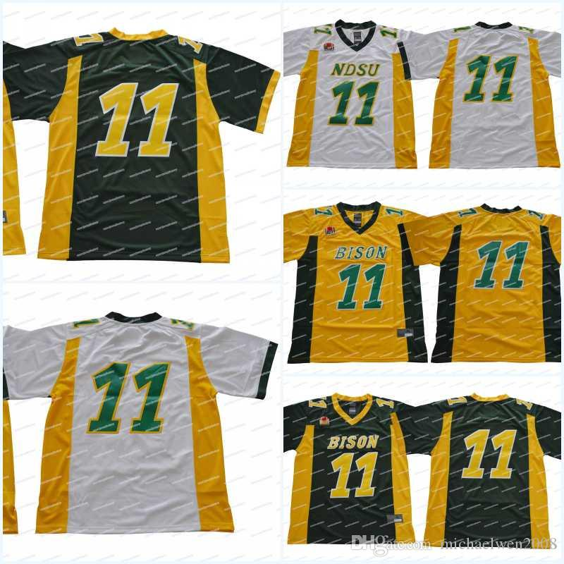 new arrival a2289 452e2 hot bison 11 carson wentz white limited stitched ncaa jersey ...