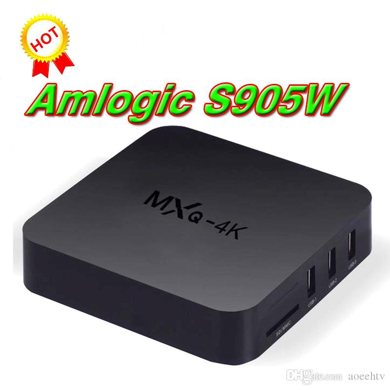 MXQ Pro MXQ 4K Amlgoic S905w 4K TV Box Quad Core 1GB 8GB Android 7.1 Streaming Media Player Support Wifi 3D WIFI HDMI BOX