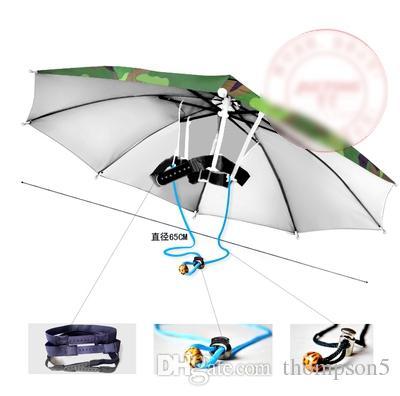 Nuovo arrivo Bambini donne cappello ombrello all'aperto anti-uv cappello ombrello a prova di ombrello antivento girovita testa regolabile viaggiare shutterbug
