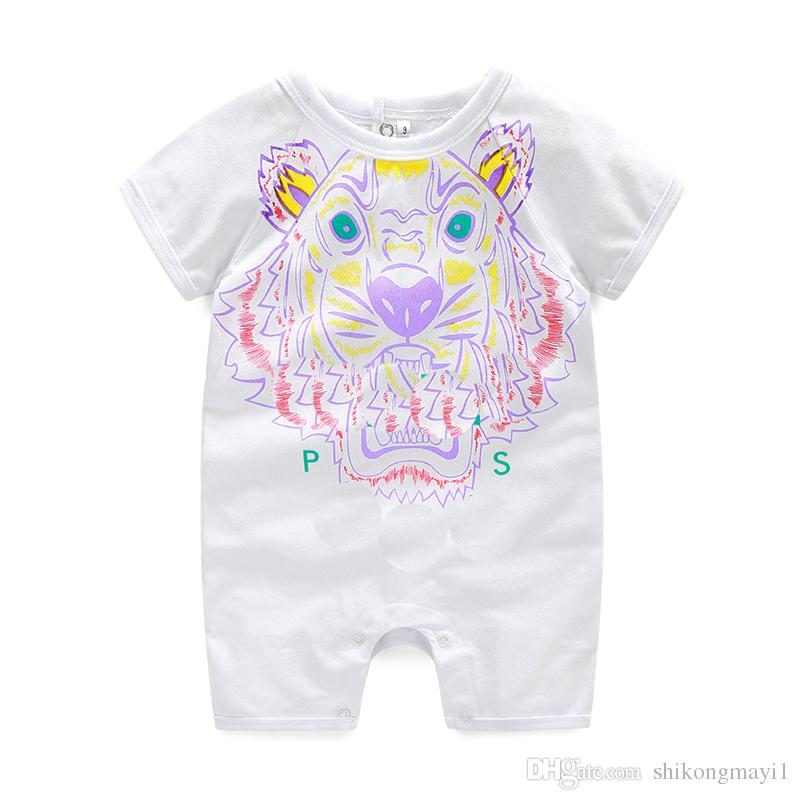 d3a3cee7749a 2019 Retail Summerborn Baby Boy Romper Short Sleeve Jumpsuit Cartoon Printed  Baby Rompers Overalls Baby Clothes From Shikongmayi1