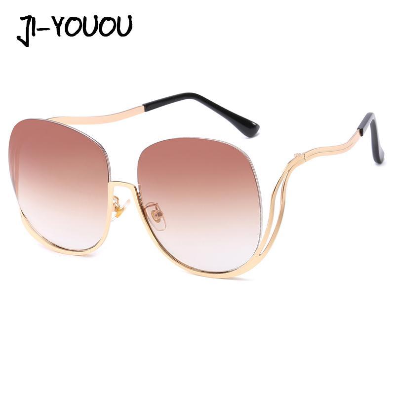 d649acdf76e 2018 New Polarized Sunglasses Fashion Trend Sunglasses Large Metal Glasses  Frame Ocean Tablet UV400 Ladies Sports Sunglasses Cheap Prescription  Sunglasses ...