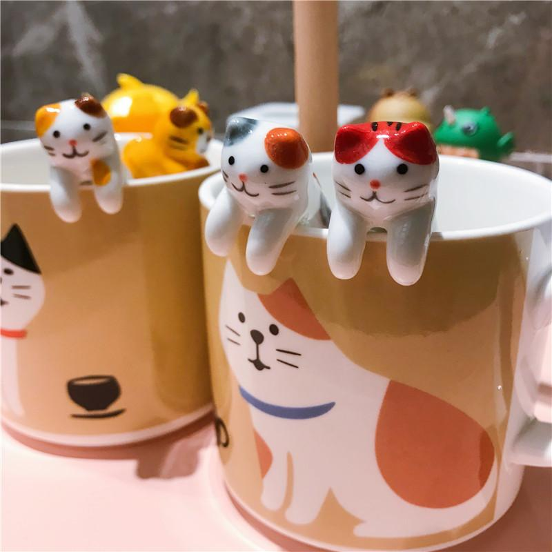 Coffee Style With Creative Cheshire Gift Japanese Mug A Cute Cl10221429 Milk Mugs Hanging Spoon Ceramic Cat Cup Fc5u13lKTJ