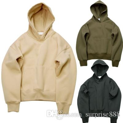 2b0b976fd53 2019 Very Good Quality Nice Hip Hop Hoodies With Fleece WARM Winter Mens  Kanye West Hoodie Sweatshirt Swag Solid Olive Pullover From Surprise888