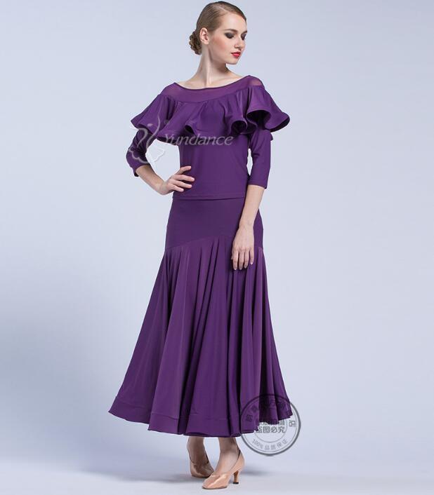 44e78eabe5c Compre Vestido De Baile Negro Para Mujer Vestidos De Baile Vestuario De  Baile Waltz Tango Falda Estándar Disfraces De Baile Flamenco 156b A $120.96  Del ...