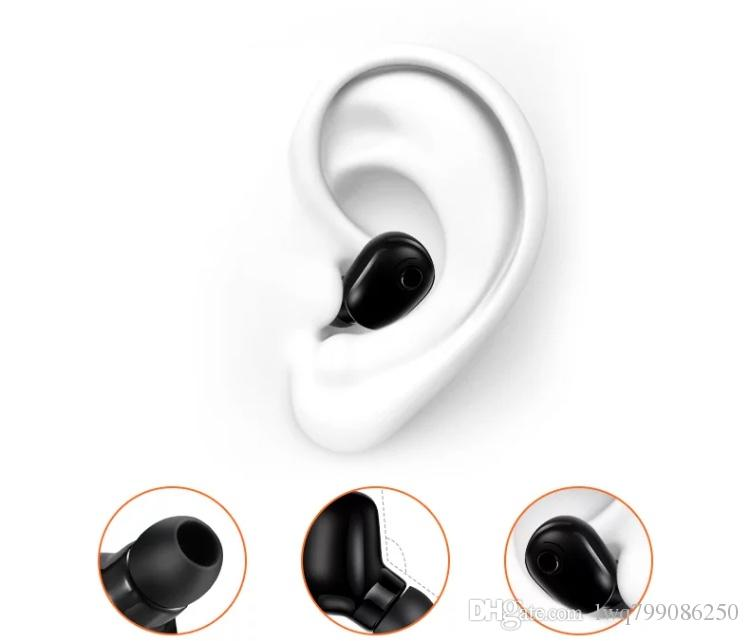 Bluetooth headset invisible wireless mini ear plug drive sports head wear super long standby can receive the phone to have a gift