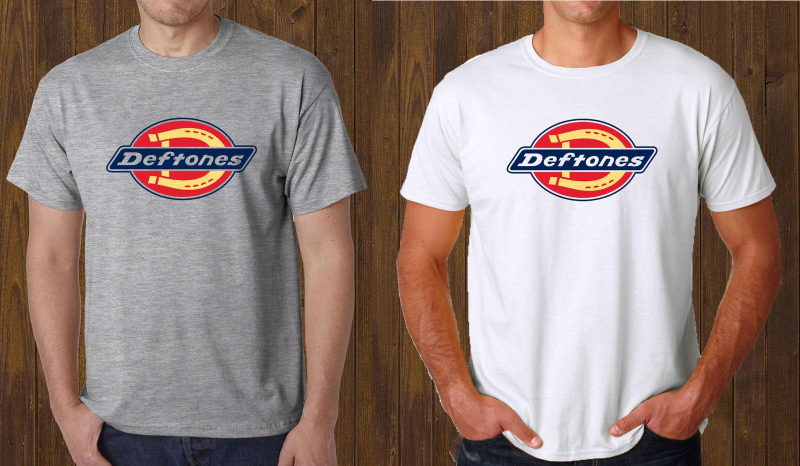 1684b68a1 Deftones Dickies Logo Grey T-Shirt White Tee Size S to 3XL Cool Casual  pride t shirt men Unisex Fashion tshirt