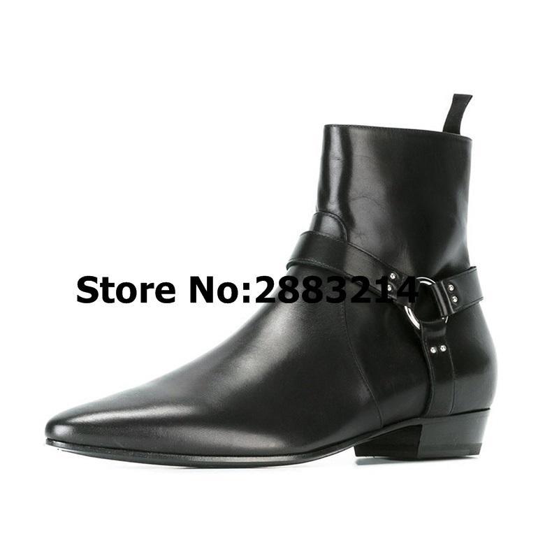 Chelsea cuir daim plein air bottines boucle bottes pour pointu hommes bottes sangle chaussures casual hombre de zapatos de chaussures Bout en en kiuZOPXT