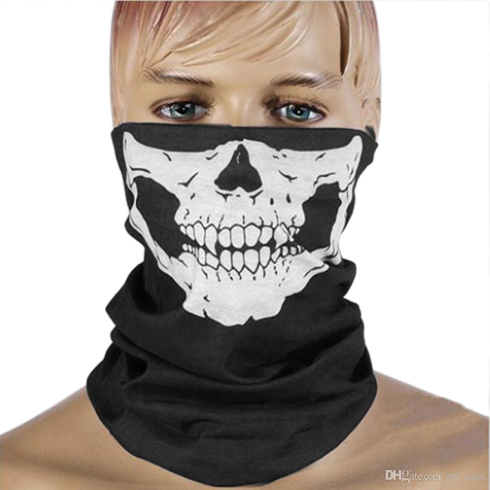 CAR-partment Winter 3D Skull Sport Mask Neck Warm Full Face Mask Windproof Dustproof Bicycle Cycling Mask Ski Snowboard Masks GGA275