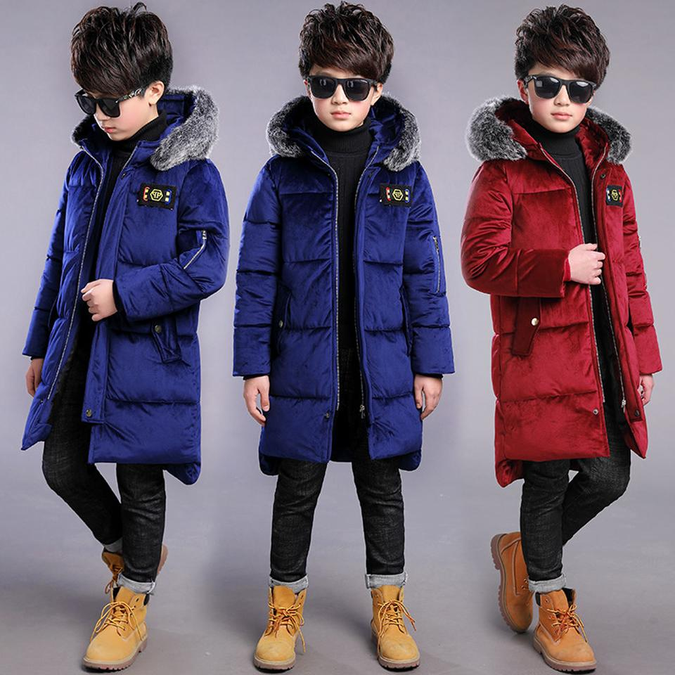 6ef9ed4f8 2018 Winter Children Winter Jacket Boy Coat Kids Warm Thick Fur ...