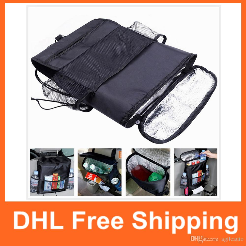 Functional Bags Objective Insulation Work Style Auto Car Seat Boot Organizer Cooler Bag Sundries Holder Multi-pocket Travel Storage Hanger Backseat Box