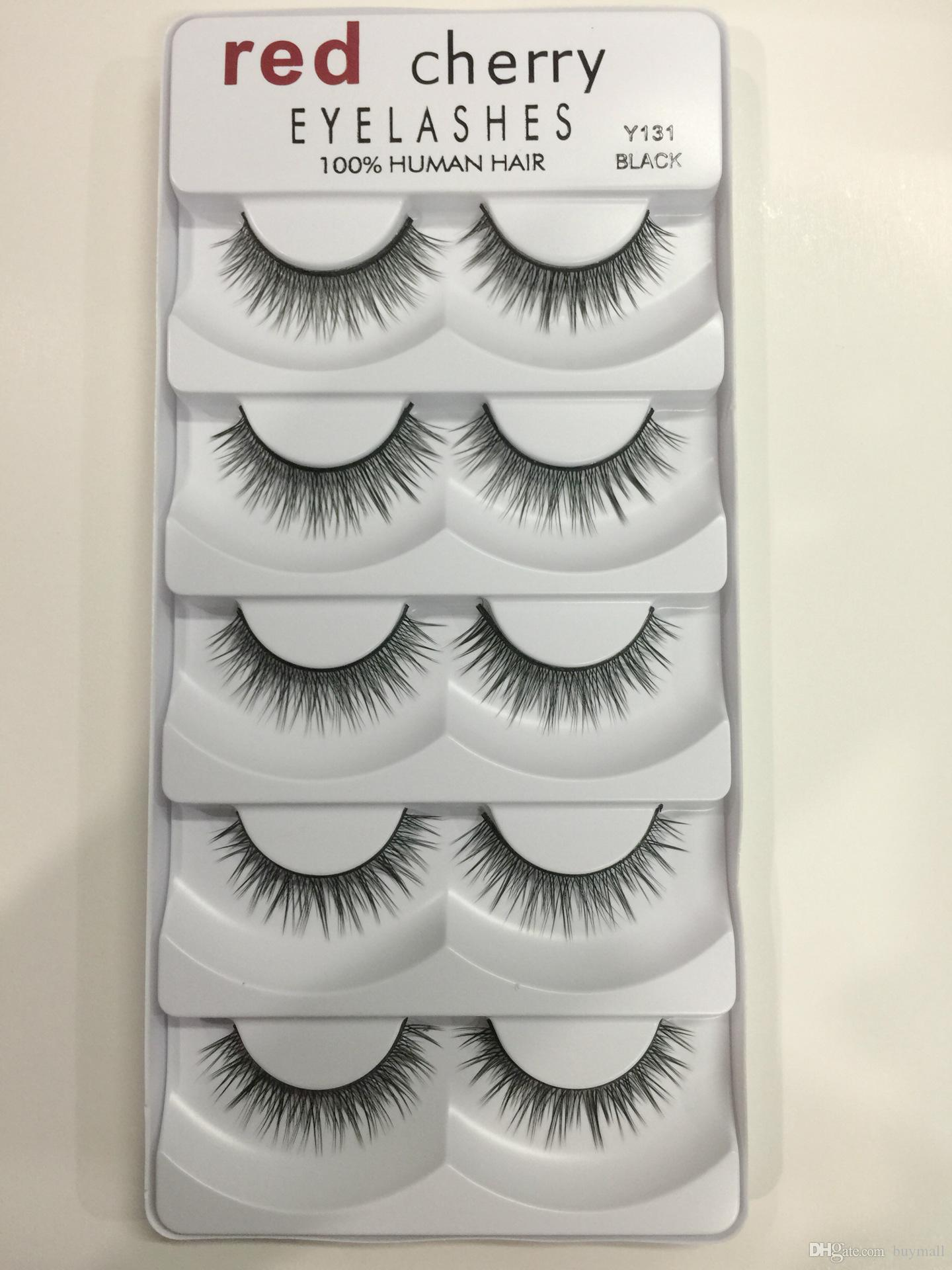 Red Cherry False Eyelashes Human made 100% Human Hair Fake Lashes 8 styles DHL Free