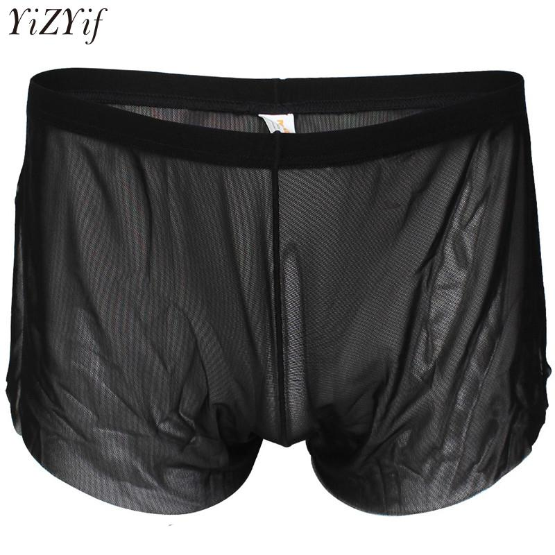 b306325a83ca YiZYiF Sexy Mens Lingerie Comfortable Mesh See Through Breezy Side ...