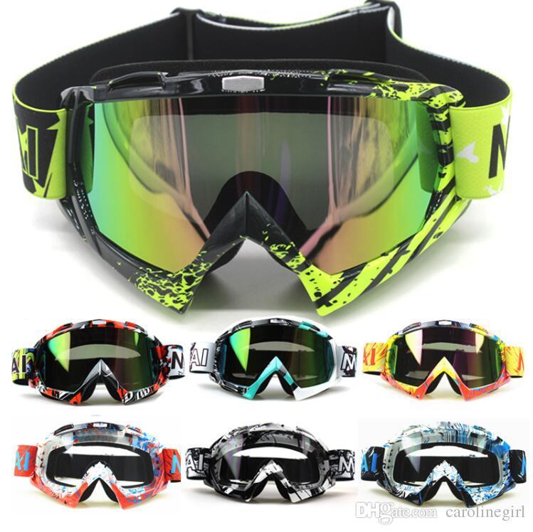 419fa311386e6 Compre Novos Óculos De Motocross Óculos Oculos Ciclismo MX Off Road  Capacete Esporte De Esqui Gafas Para Motocicleta Óculos De .