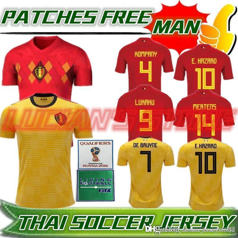 69b562094dc Thail Quality 2018 World Cup Belgium Soccer Jersey 2018 Home Away ...