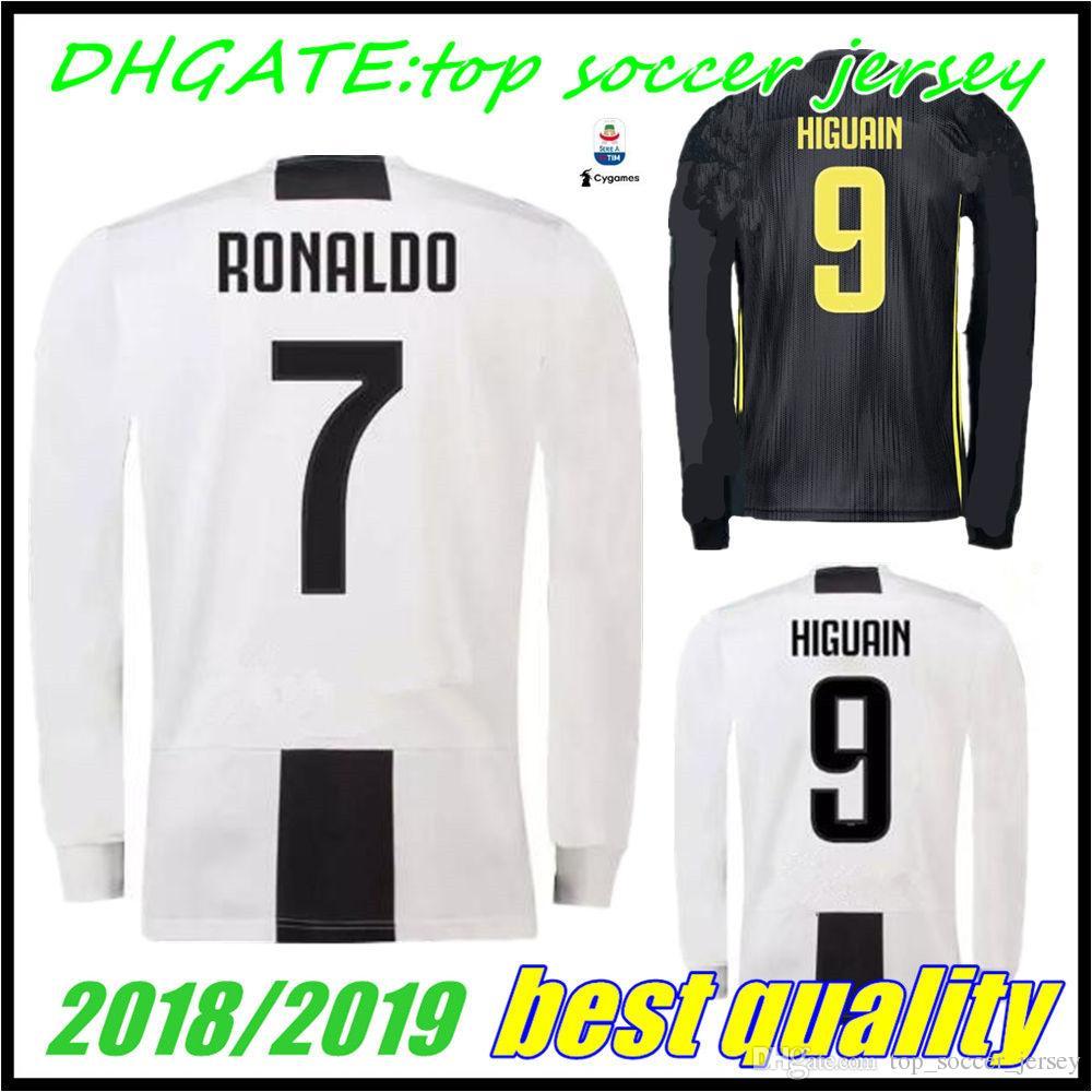 31deaa43b5b ... coupon for shop soccer jerseys online long sleeve juventus home third soccer  jersey 18 19 ronaldo