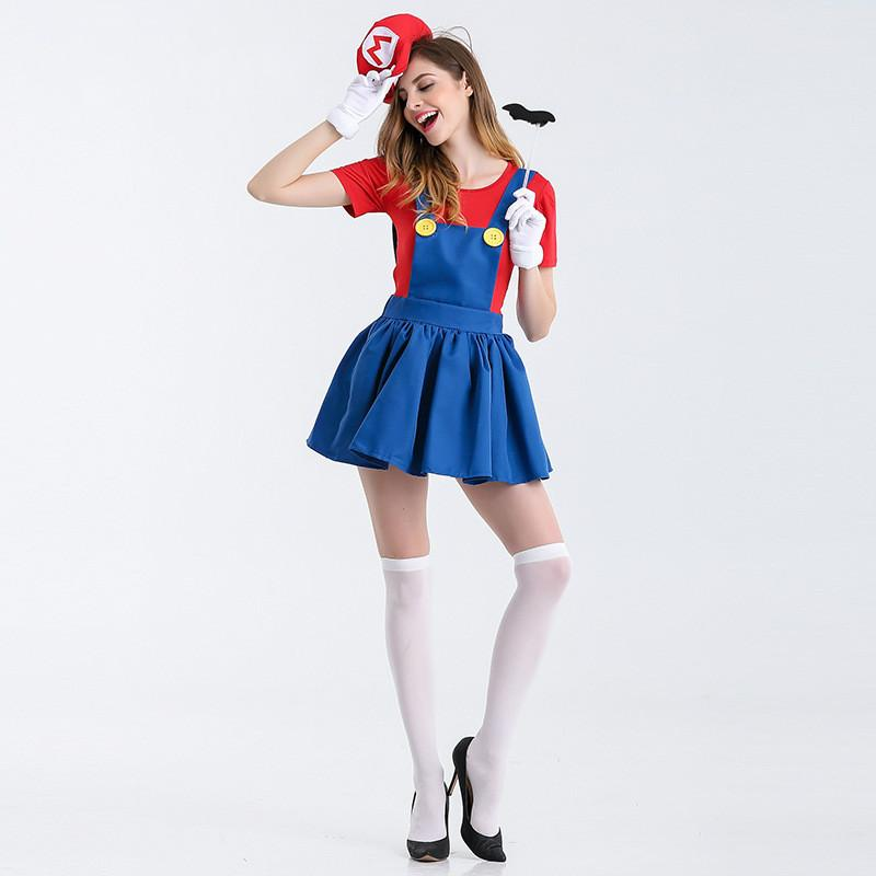 2018 Sexy Woman Japan Anime Super Mario Cosplay Nightclub Bar Party
