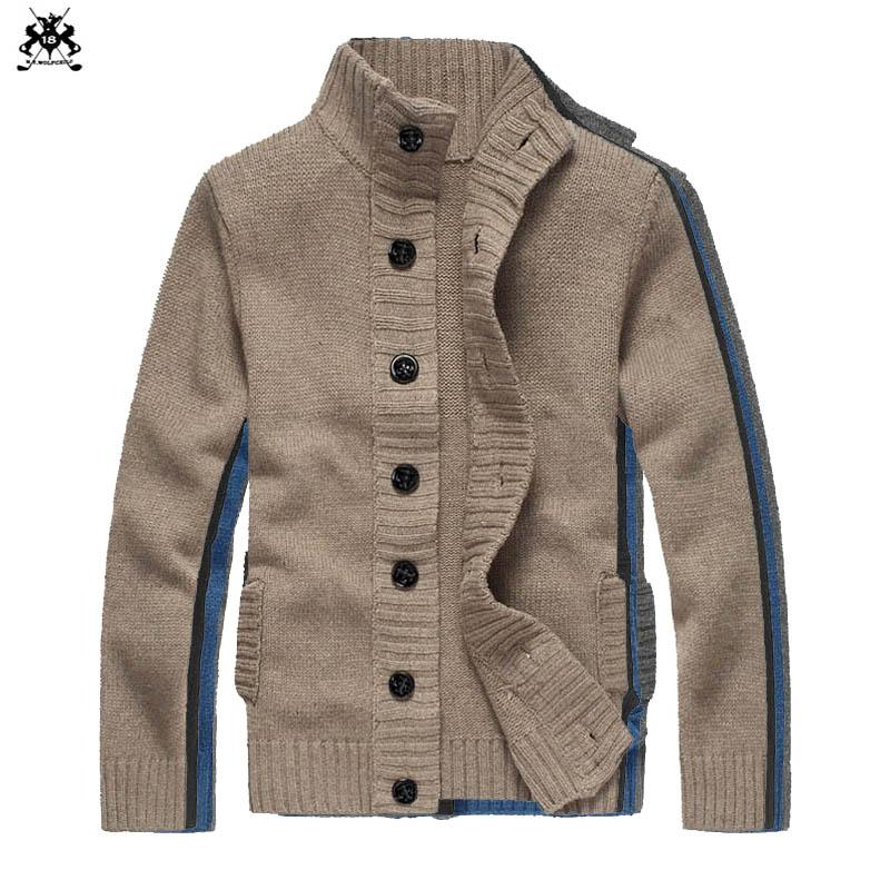 2019 Europe And America 2018 Mens Long Sleeve Stand Collar Wool Sweaters  Casual Cardigan Thick Mens Knit Outerwear Fashion Coats From Beenling 3a937e3b6