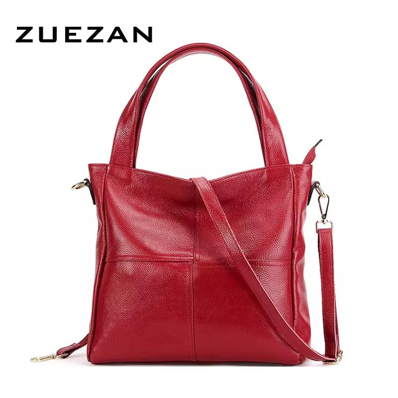 d407689b97 2018 New Fashion Large Tote Women Genuine Leather Shoulder Bag 100 ...