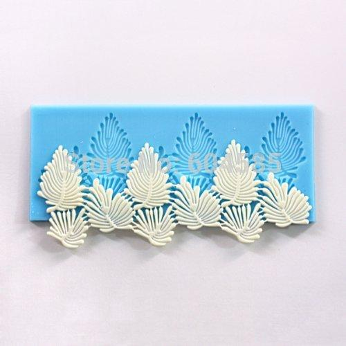 Sugarcraft Cake Decoration tool Vivid Leaves Leaf Veining Border Icing Silicone Mold Mould