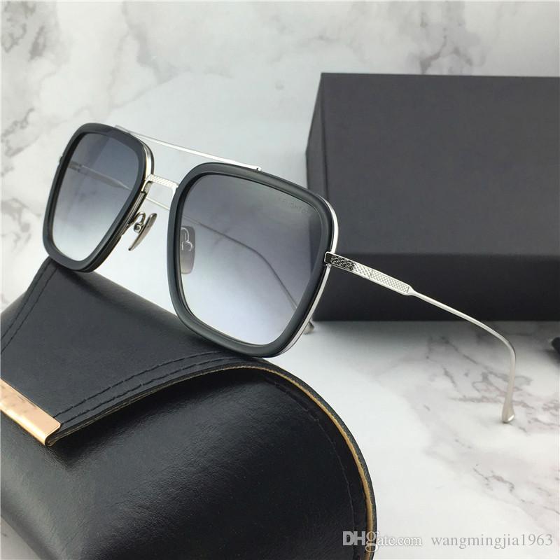 Compre Nuevo Diseñador De Gafas De Sol De Vuelo 006 Marco Cuadrado Revestimiento  Espejo Lente Chapado En Oro Hombres Diseñador De La Marca Lente UV400 ... d7e7f2d73443