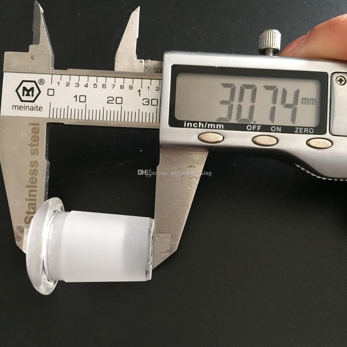 Mini adaptador de vidrio 10 mm hembra a 14 mm macho / 14 mm hembra a 18 mm macho forsted boca vidrio en el adaptador de vidrio envío gratuito
