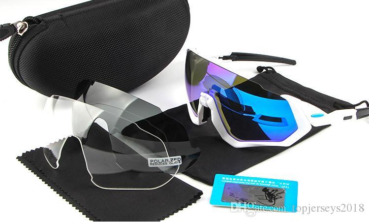 660f6b9300 2019 2018 New Cycling Eyewear Flight Jacket Men Fashion Polarized TR90  Sunglasses Outdoor Sport Running Glasses With 2 Extra Lens From  Topjerseys2018