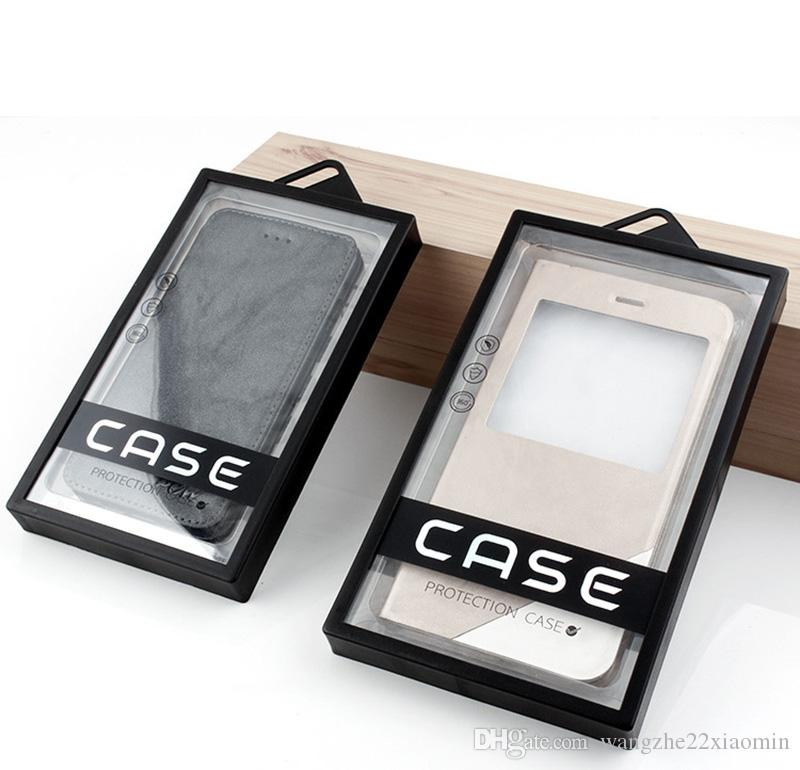 Luxury PVC Packaging Box Universal Plastic Package for iPhone X 8 8plus Phone Case Gift Box with Inner tray