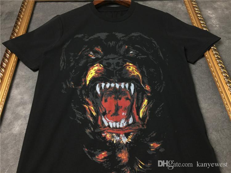 2019 yaz erkekler Marka t gömlek kısa kollu 3D Rottweiler baskı tasarımcısı casual tshirt moda giyim tee pamuk tops t-shirt