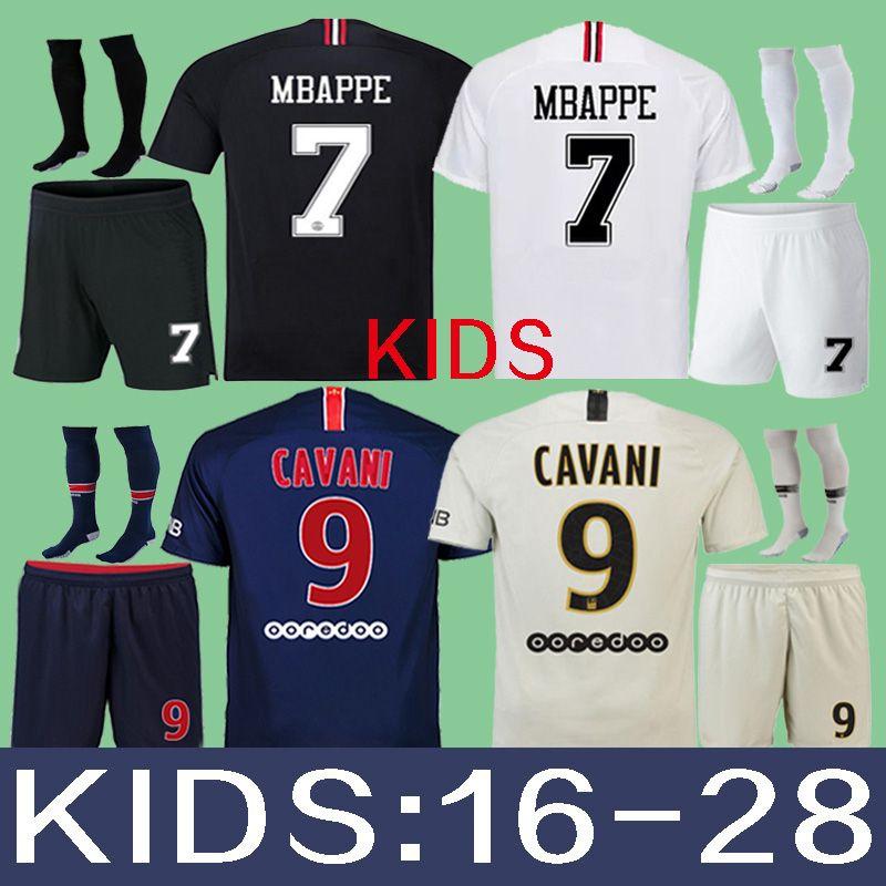 Compre Kits Para Niños PSG KIDS JERSEY 2018 2019 Camisetas De Fútbol NEYMAR  JR DANI ALVES MBAPPE 18 19 Niños Paris CAVANI Camisetas De Fútbol VERRATTI  Third ... 2606ba1ffadfe
