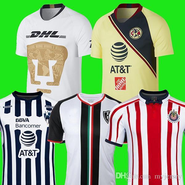 Compre NOVO Chegou 2018 2019 LIGA MX Club América Camisas De Futebol Longe  De Casa 18 19 Goleiro Club De Cuervos Chivas Monterrey Tigres Camisas De  Futebol ... 033a4c7dac528
