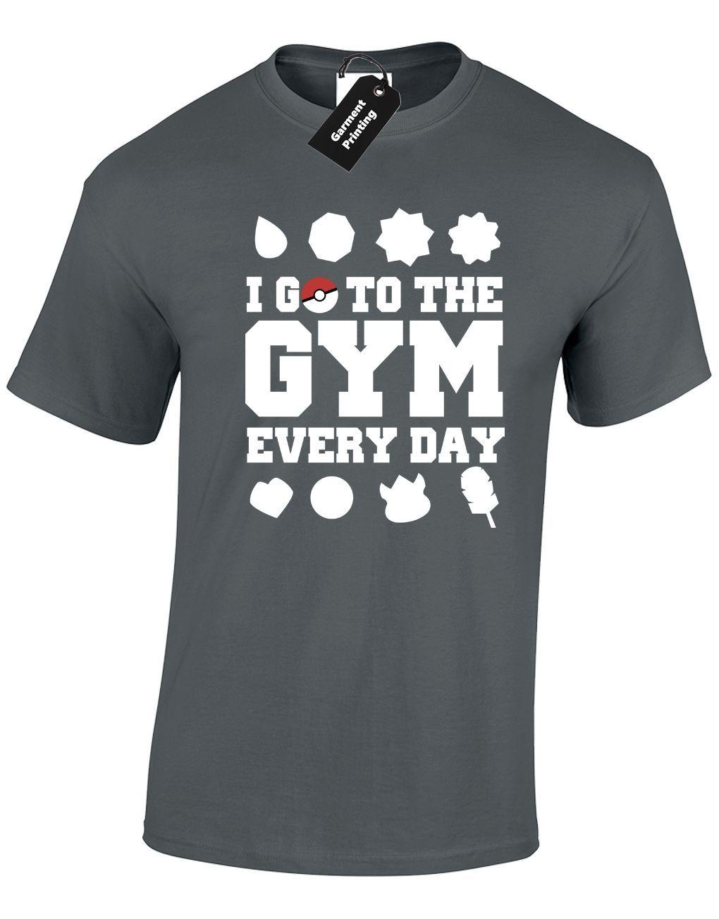 9151ba308 I GO TO THE GYM EVERY DAY MENS T SHIRT ANIME FITNESS CHARIZARD ASH POKEBALL  NEW Shirt Site Printing Of T Shirt From Cls6688524, $13.91| DHgate.Com
