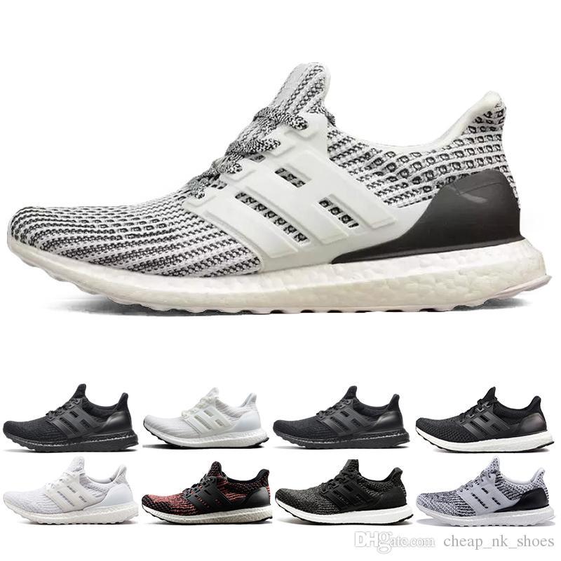 Acheter Nouvelle Arrivée Ultra Boost 3.0 4.0 Triple Noir Blanc Oreo Ultraboost 3.0 Hommes Femmes Chaussures De Course Sport Sneaker Taille 36 45 De $66.34 ...