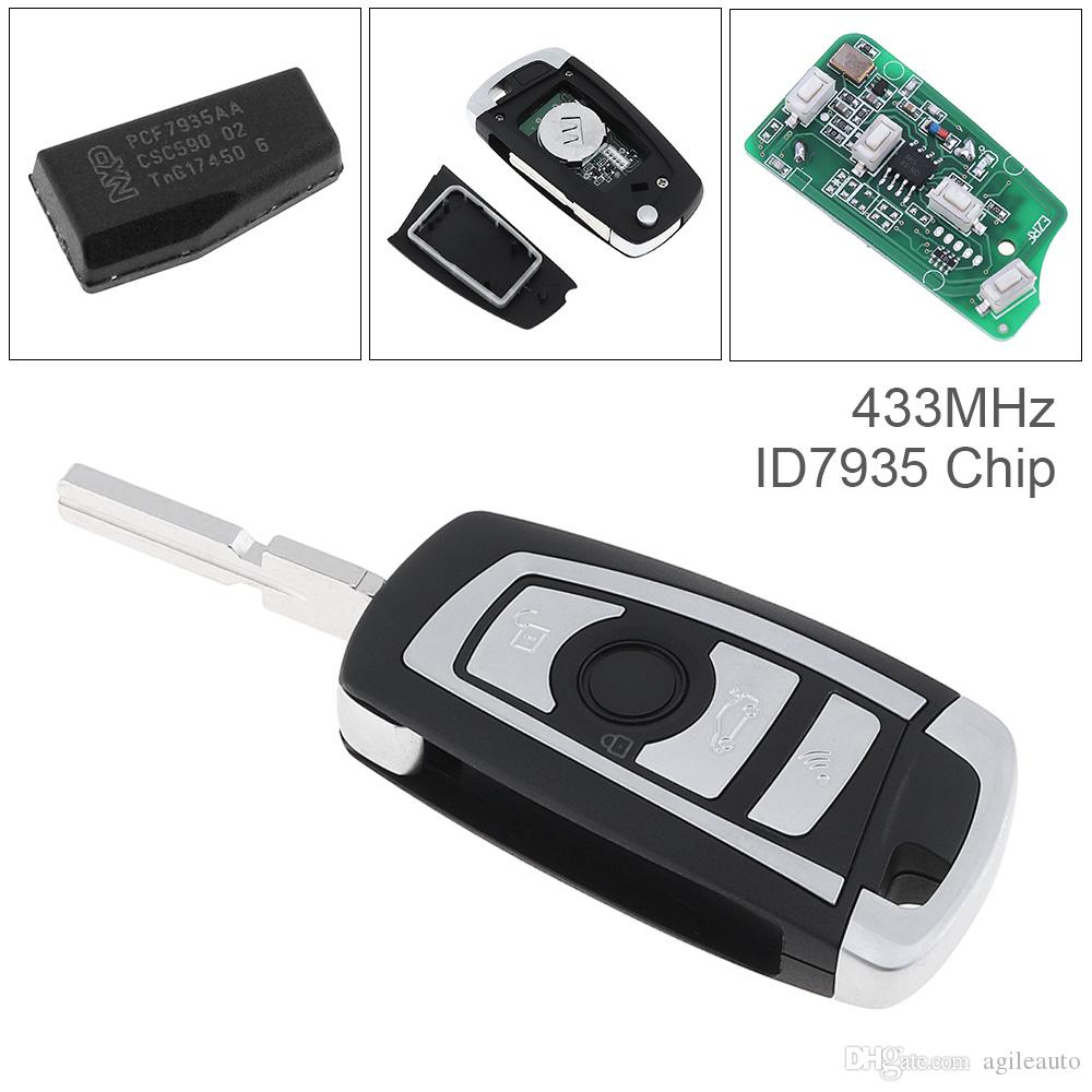 433mhz 3 Buttons Ews Modified Flip Remote Key Pcf7935aa Id44 Chip