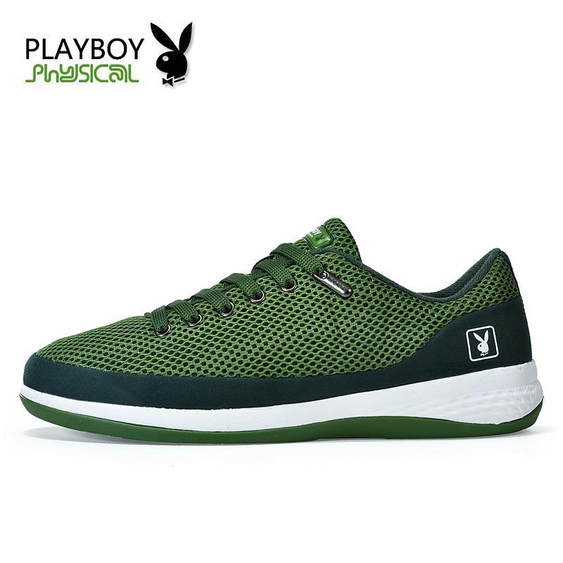 Купить Оптом PLAYBOY Мода Breathable Hole Мужская Обувь, Большие Размеры  Высокое Качество Мужская Повседневная Обувь, Роскошная Обувь Mesh Shoes  Отfeetlove ... f41ac8073a8