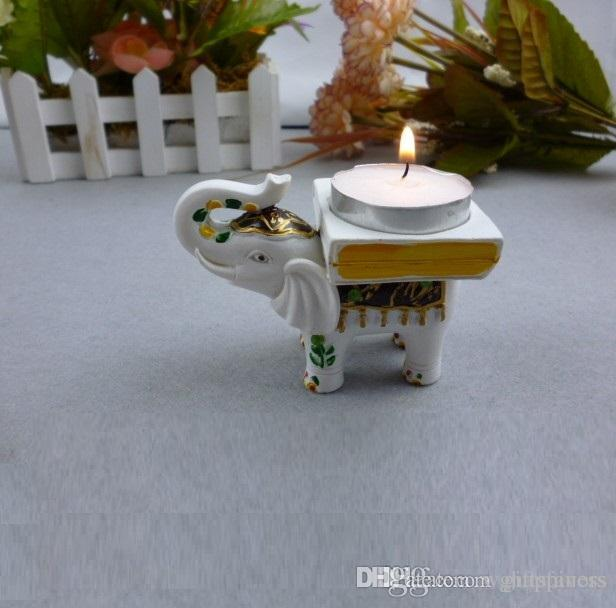High Quality Lucky Elephant Candle Tealight Holder Wedding Return