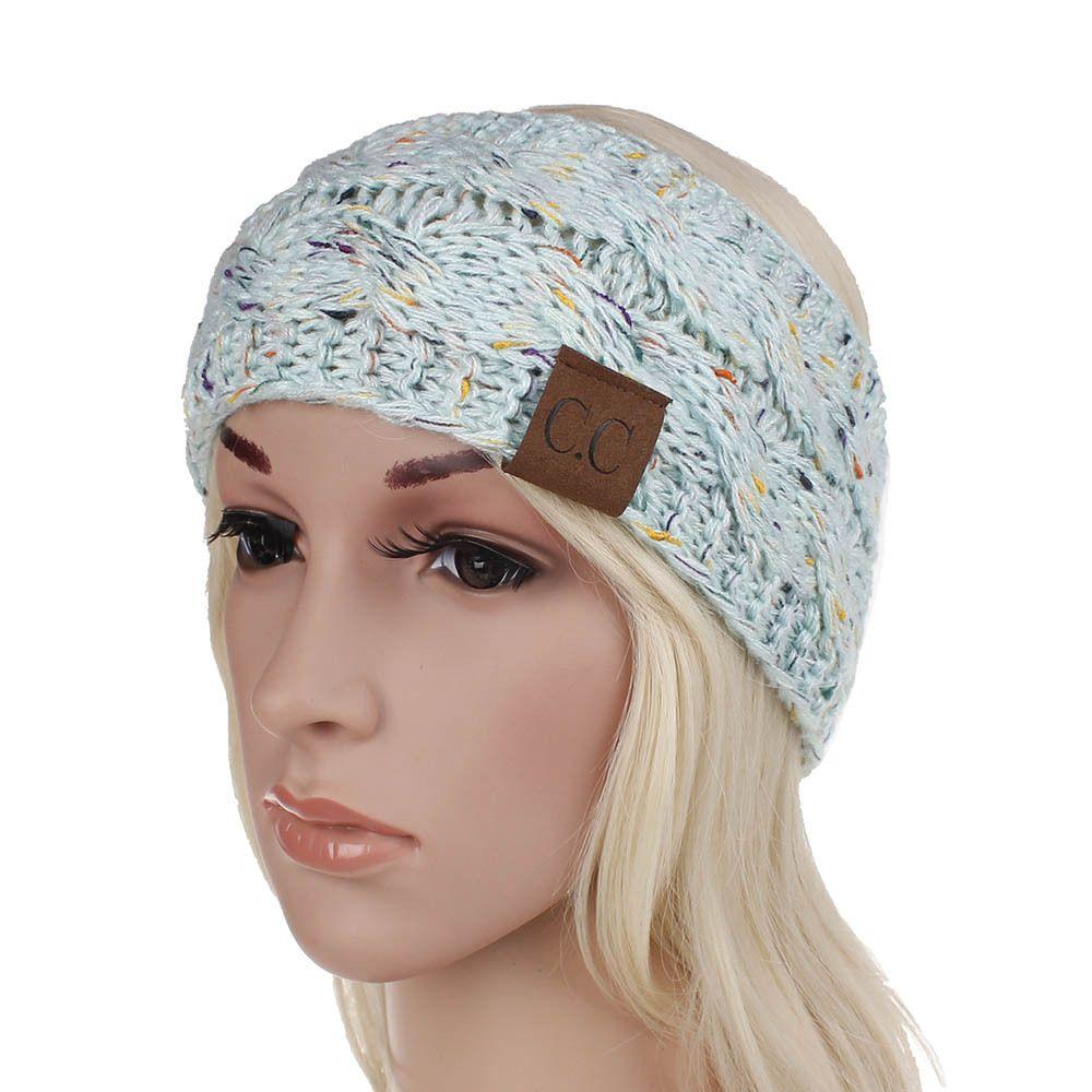 0a8ed322a65 Knitted Headband Adults Man Woman Sport Winter Warm Beanies Hair  Accessories Boho Yoga Headbands Fascinator Hat Ear Head Dress Headpieces  Beanie Skull Caps ...
