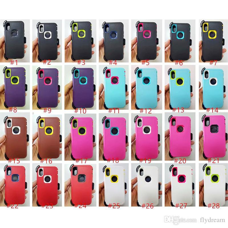 Nihai Hibrid Vaka iPhone X iPhone 7 Için 8 Artı 6 6 S Renkli Yumuşak TPU tampon Kristal Şeffaf Akrilik Geri Cilt Telefon Kapak Ücretsiz Kargo