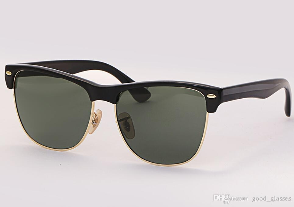 6d4ef045f29 Fashion Sunglasses Club Half Frame Women Men Brand Design Square Sun ...