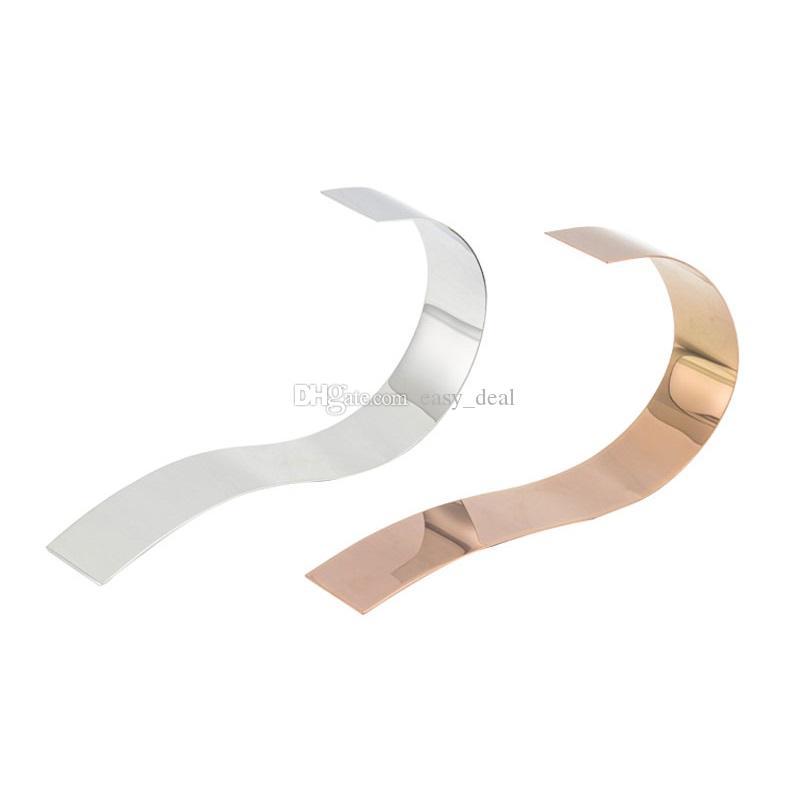 Mate / Espejo Plateado Soporte de Cinturón de Metal de Oro Rosa Cinturón de Rack de Exhibición Boutique Hombres Ropa Tienda Mostrando Herramienta QW7146
