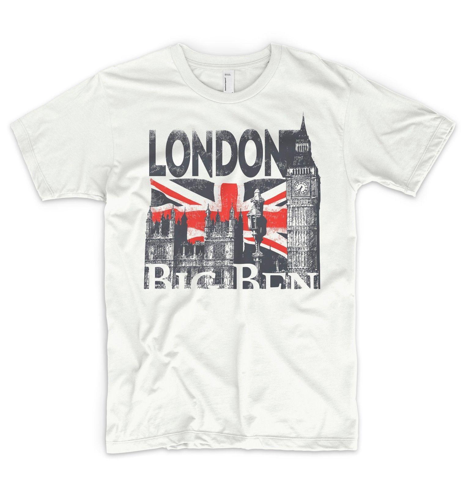 fbd98e04d London Big Ben T Shirt I Love United Kingdom Great Britain England Trip  Holiday Funny Unisex Gift Vintage Tee Shirts Family T Shirts From  Topclassa, ...