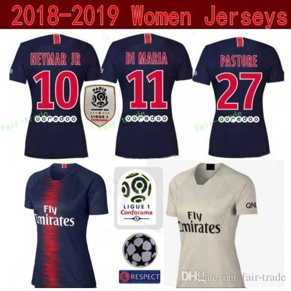 get cheap ef478 cb938 PSG Women MBAPPE Jersey Ligue 1 Paris Saint Germain FC Lady Soccer Blue  CAVANI DI MARIA SILVA VERRATTI Football Shirt Kits Uniform Woman