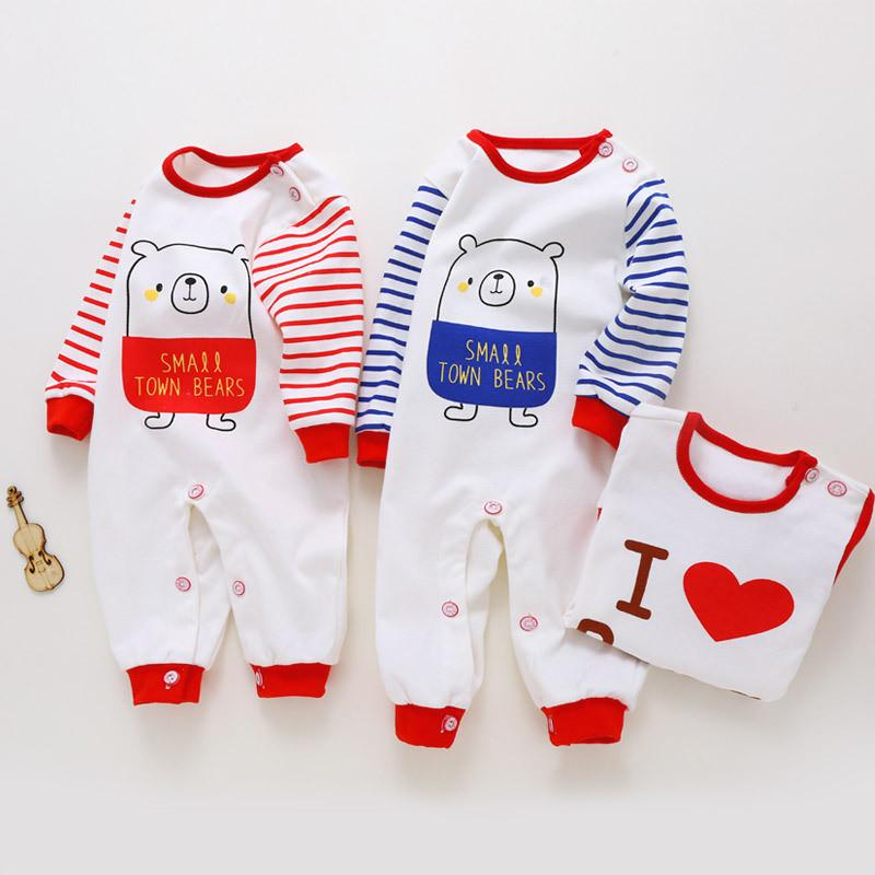 3be08a274 Newborn Clothes Baby Boys Girls Rompers Autumn Spring Infant Long ...