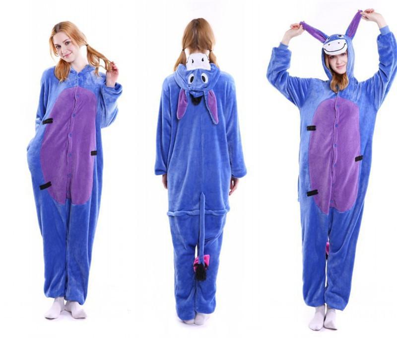 Pajamas Plush Adult Panda Cartoon Siamese Pajamas Flannel Dinosaur Cute Men and Women Couples Toilet Home Sleepwear